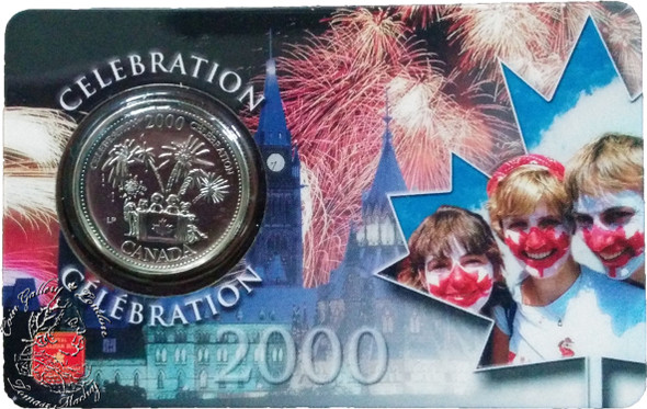Canada: 2000 25 Cent July Celebration Coin and Collector Card