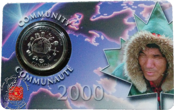 Canada: 2000 25 Cent December Community Coin and Collector Card