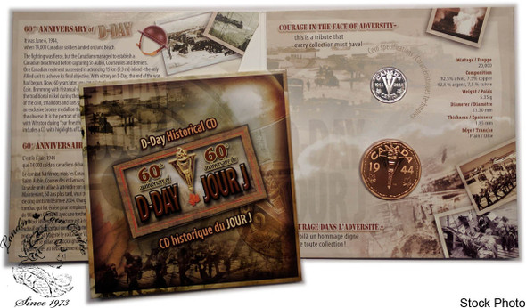 Canada: 2004 5 Cent D-Day Coin and Medallion Set