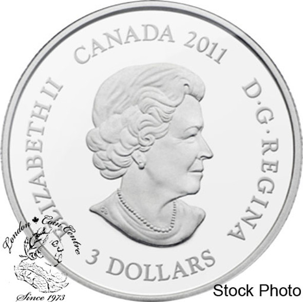 Canada: 2011 $3 Family Scene Pure Silver with Selective Gold Coin