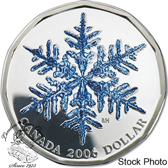 Canada: 2006 $1 Holiday Carols CD and Sterling Silver Snowflake Dollar Set