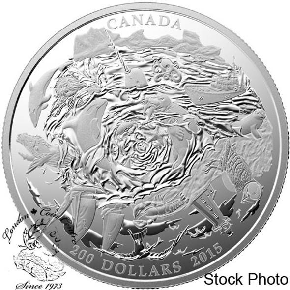Canada: 2015 $200 Coastal Waters of Canada Silver Coin