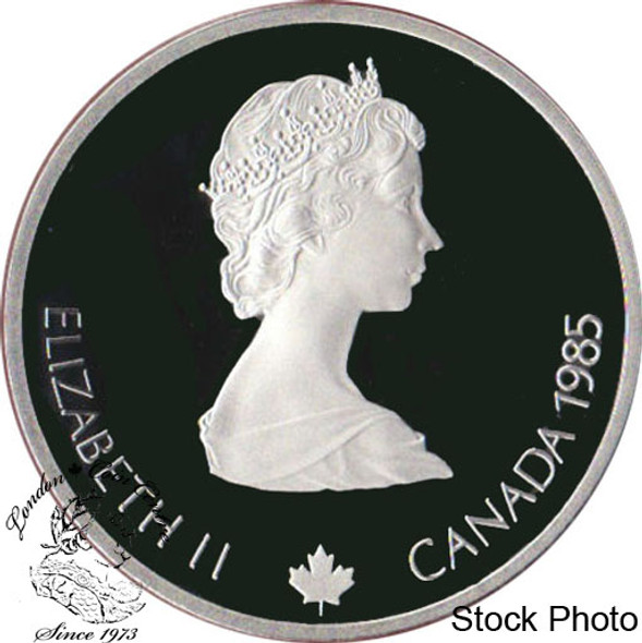 Canada: 1985 $20 Calgary Olympic Winter Games Downhill Skiiing Silver Coin in Clamshell