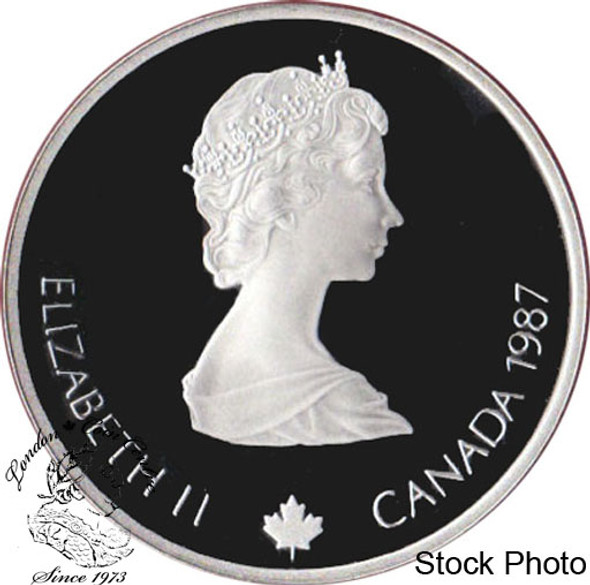 Canada: 1987 $20 Calgary Olympic Winter Games Ski-Jumping Silver Coin