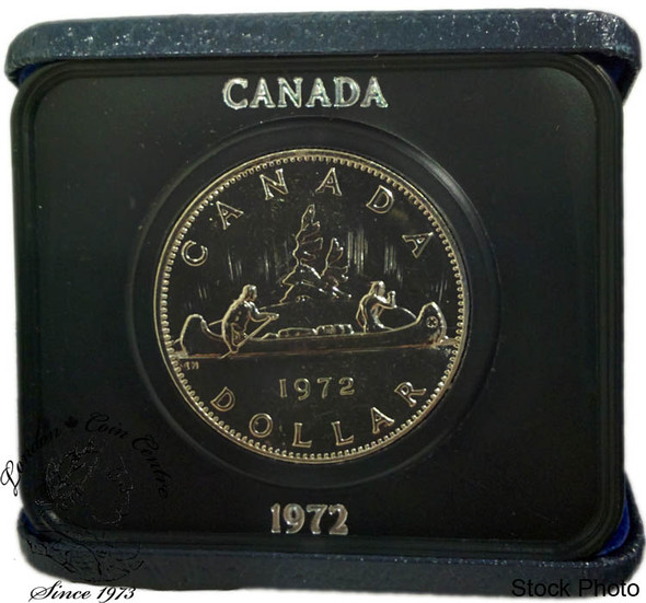 Canada: 1972 $1 Nickel Proof Like Dollar Coin in Case