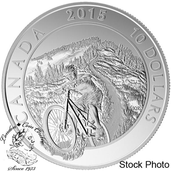 Canada: 2015 $10 Adventure Canada: Mountain Biking Silver Coin