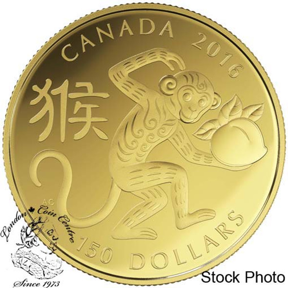 Canada: 2016 $150 Year of the Monkey Gold Coin