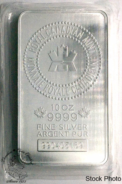 Royal Canadian Mint (RCM) .9999 10 Oz Silver Bar Sealed