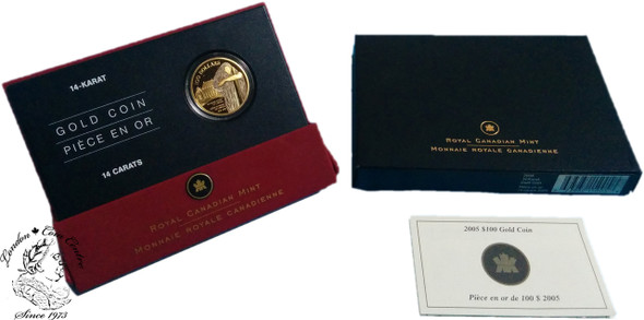 Canada: 2005 $100 130th Anniversary of the Supreme Court of Canada Gold Coin