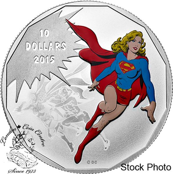 Canada: 2015 $10 Supergirl Superman DC Comics™ Originals: Unity Silver Coin