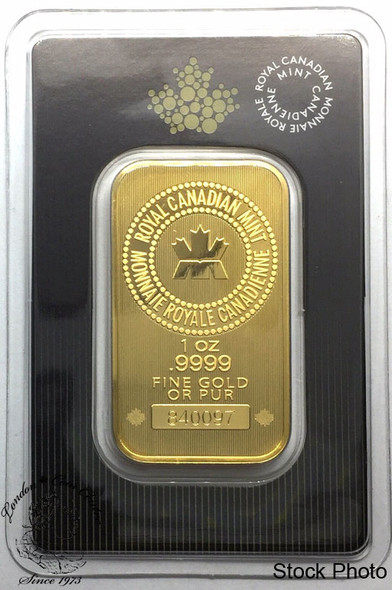 Royal Canadian Mint (RCM) 1 oz Pure Gold Bar Sealed