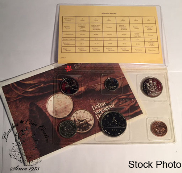Canada: 1985 Proof Like / Uncirculated Coin Set Experimental Variety