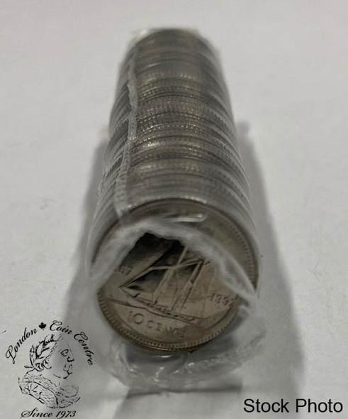 Canada: 1992 10 Cent Original Roll (50 Coins)