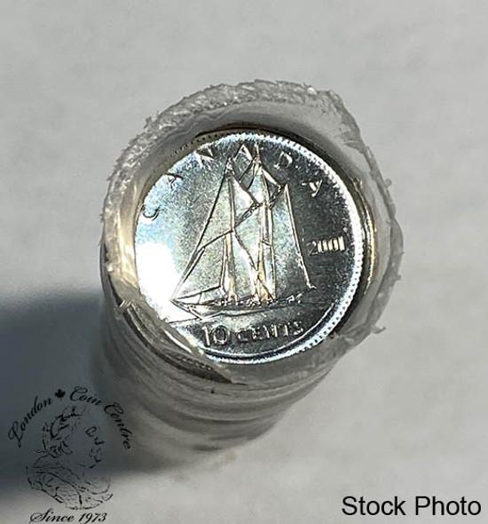 Canada: 2001 P 10 Cent Original Roll (50 Coins)