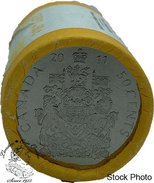 Canada: 2011 Logo 50 Cent Original Roll (25 Coins)