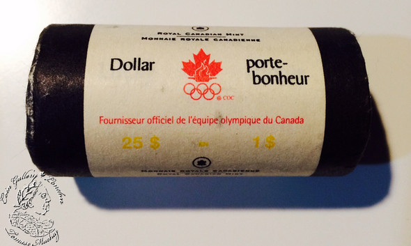 Canada: 2004 $1 Lucky Loonie with Olympic Logo Loonie Roll (25 Coins)