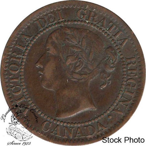 Canada: 1859 1 Cent Narrow 9 VF20