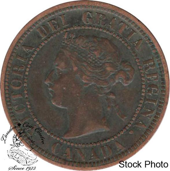 Canada: 1882H 1 Cent Obv #1 VF20
