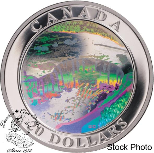 Canada: 2003 $20 Natural Wonders - Niagara Falls Hologram Silver Coin