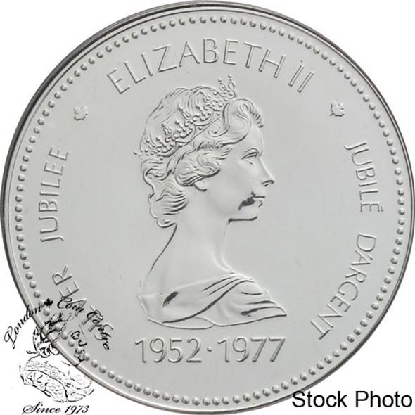 Canada: 1977 $1 Silver Jubilee Elizabeth II Silver Dollar Coin