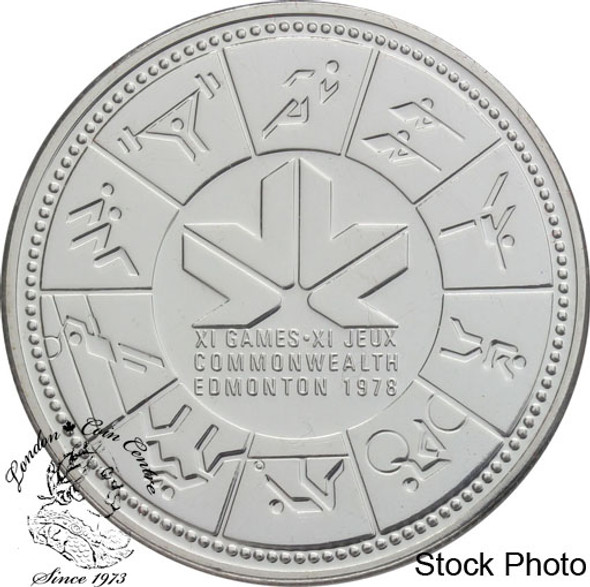 Canada: 1978 $1 11th Commonwealth Games Silver Dollar Coin
