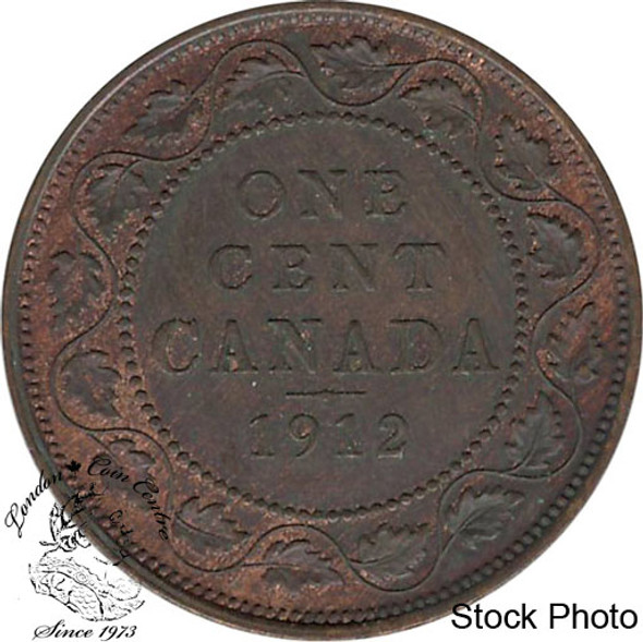 Canada: 1912 1 Cent AU50