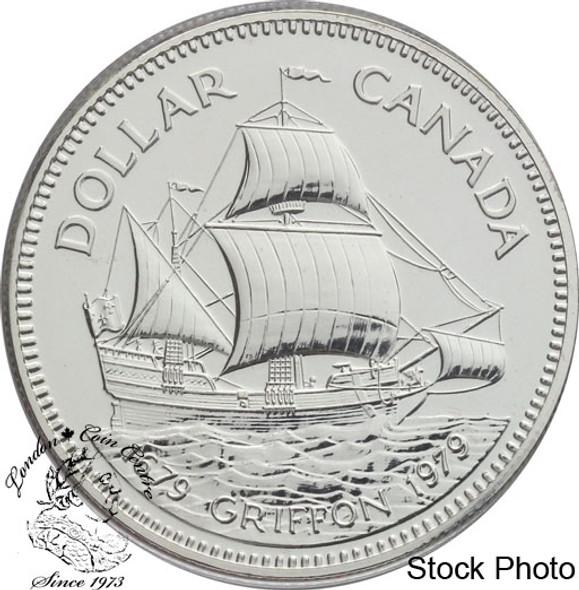 Canada: 1979 $1 Griffon Tricentennial (with Ship) Silver Dollar Coin