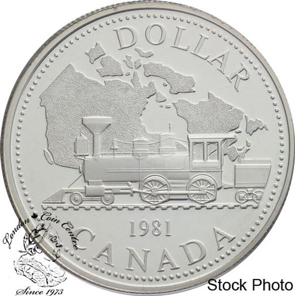 Canada: 1981 $1 Trans-Canada Railway Centennial Proof Silver Dollar Coin