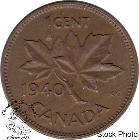 Canada: 1940 1 Cent AU50