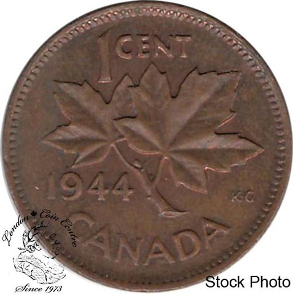 Canada: 1944 1 Cent AU50