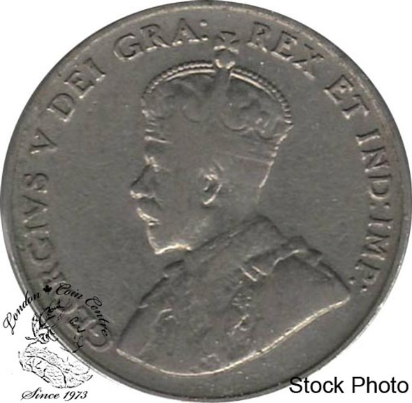 Canada: 1922 5 Cent Near Rim F12