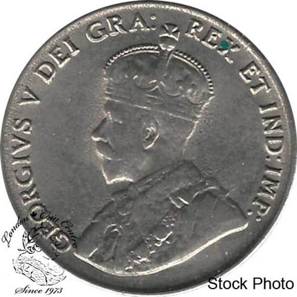 Canada: 1922 5 Cent Near Rim EF40