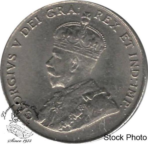 Canada: 1922 5 Cent Near Rim AU50