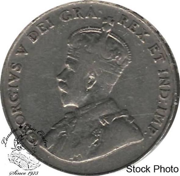 Canada: 1922 5 Cent Far Rim F12
