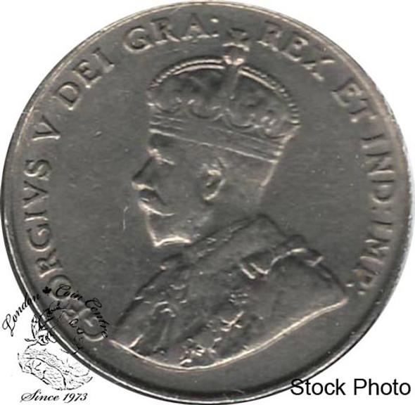 Canada: 1922 5 Cent Far Rim VF20