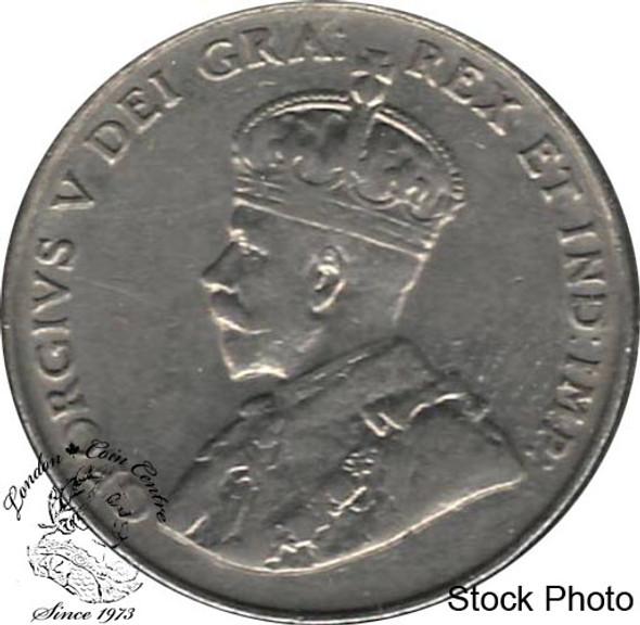 Canada: 1922 5 Cent Far Rim EF40