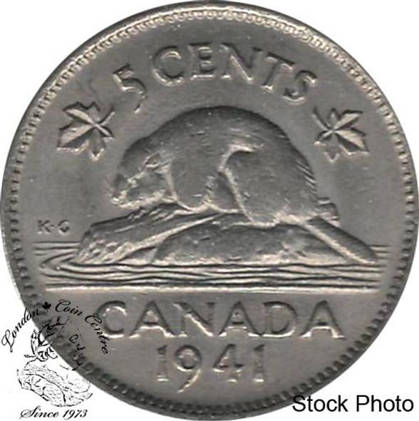 Canada: 1941 5 Cent AU50