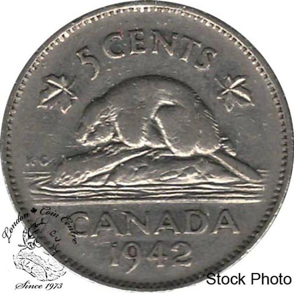 Canada: 1942 5 Cent Nickel VF20