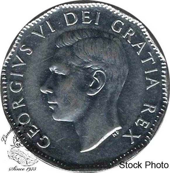 Canada: 1952 5 Cent AU50