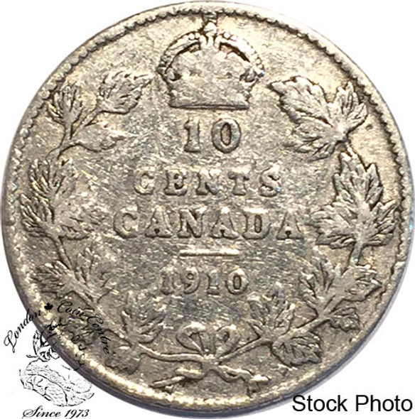 Canada: 1910 10 Cents VG8