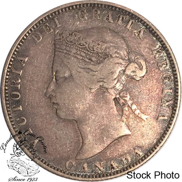 Canada: 1871 25 Cents Obv 2 F12