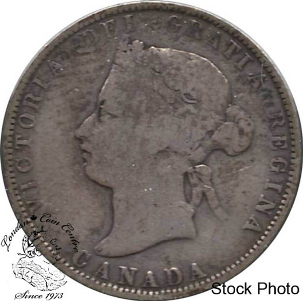 Canada: 1874H 25 Cents VG8