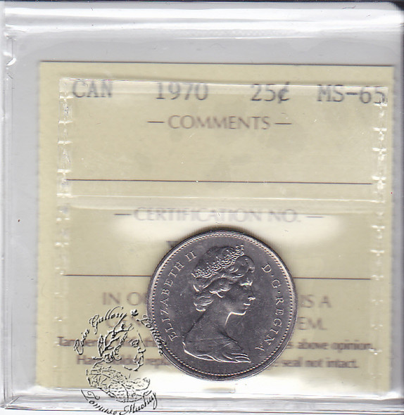 Canada: 1970 25 Cents ICCS MS65 Coin nr 5