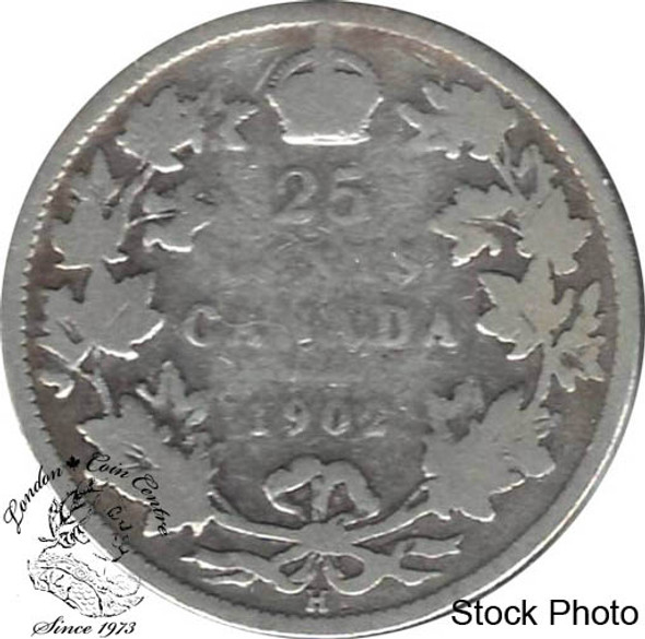 Canada: 1902H 25 Cents G4