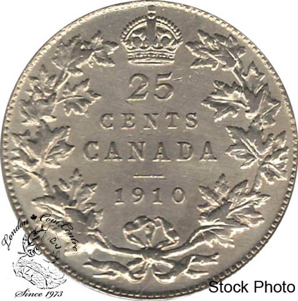 Canada: 1910 25 Cents VF20