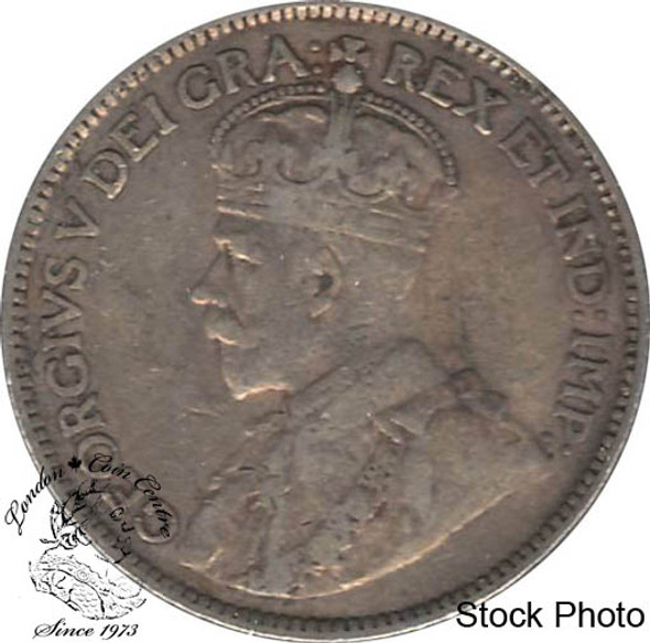Canada: 1914 25 Cents VF20