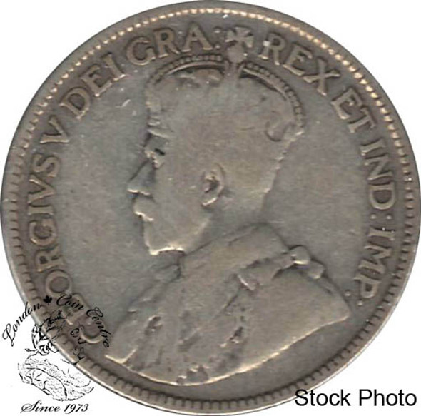 Canada: 1921 25 Cents VG8