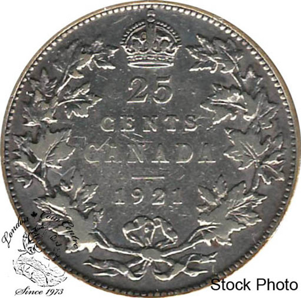 Canada: 1921 25 Cents F12