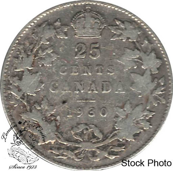 Canada: 1930 25 Cents VG8