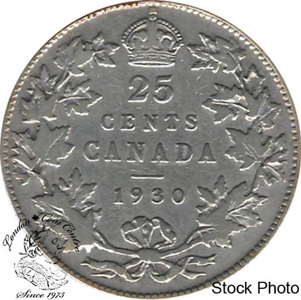 Canada: 1930 25 Cents F12